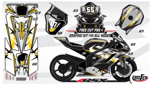 F4 Graphic kit FreeCut