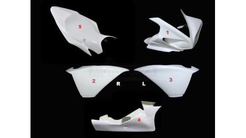 Full poly racing fairing 5 parts fiberglass R1 2009-2014