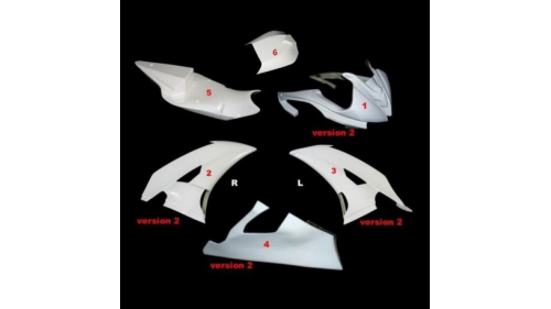 Racing world supersport full poly fairing 6 parts R6 fiberglass 2008-2016