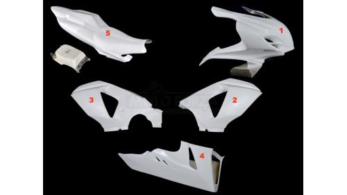 Full poly racing fairing 5 parts fiberglass GSXR1000 2009-2016 K9-L6