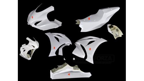 Full poly racing fairing 5 parts fiberglass GSXR1000 2017-2020 L7-M0