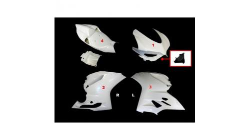 Panigale 899, 1199 4-part fiberglass full poly fairing