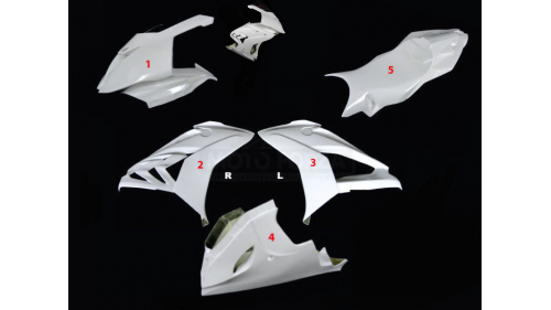 Full poly fairing 5 parts racing fiberglass S1000RR 2015-2018