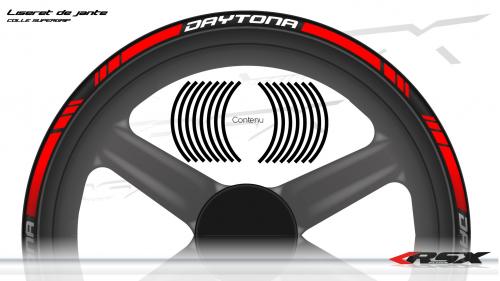 Daytona Wheel stripes