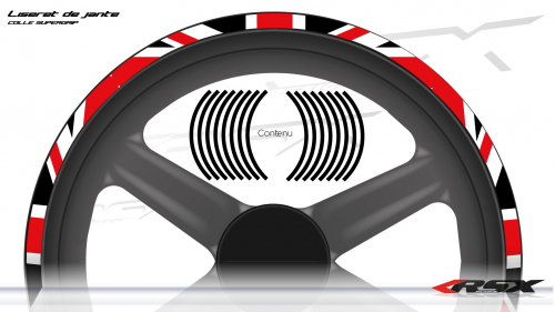 Union Jack Wheel stripes