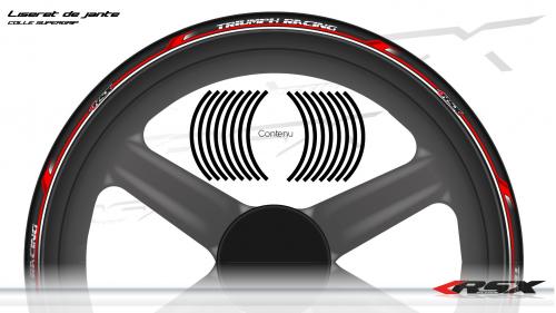 TRIUMPH Wheel stripes