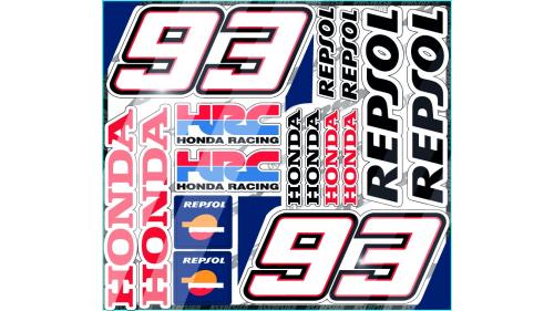 Sticker kit HONDA HRC