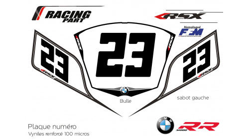 BMW S1000rr plate number