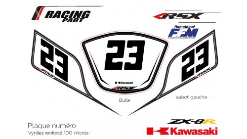 Kawasaki ZX6R plate number
