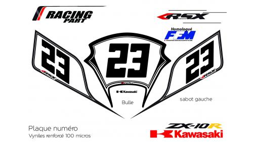 Kawasaki ZX10R plate number