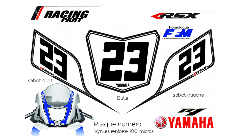 YAMAHA R6 plate number