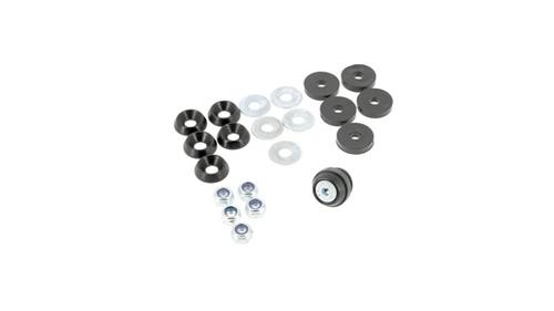 Kit floor screws, wash bowl alu Black