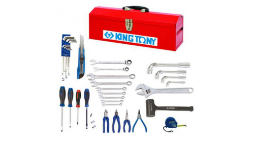 Mechanical karting tool box - 35 pieces - KING TONY