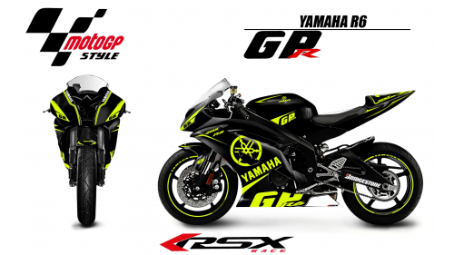YAMAHA R6 2008 AND + GPR fluo