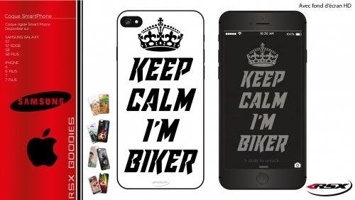 Coque Keep calm I'm biker