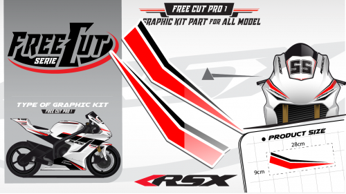 Low fairing F1 Graphic kit