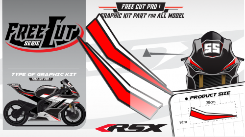 Head fork F1 Graphic kit