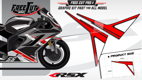 Flank F2 black Graphic kit