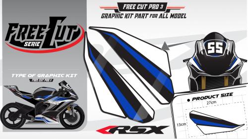 Head fork F3 black Graphic kit