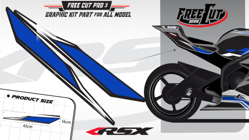 Rear seat F3 back Graphic kit