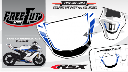 Rear seat F3 Graphic kit