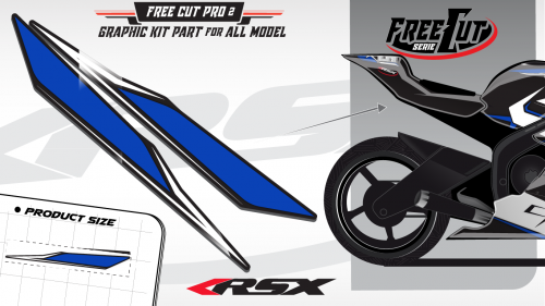 Rear seat F4 back Graphic kit