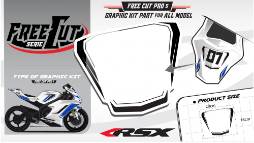 Rear seat F5 Graphic kit