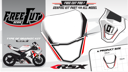 Rear seat F6 Graphic kit