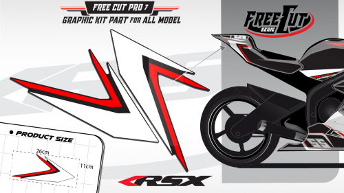 Rear seat F6 back Graphic kit