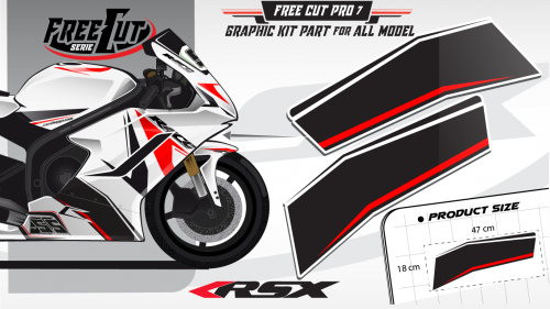 Low fairing F6 white Graphic kit