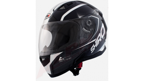 HELMET SHIRO SH-881 BLACK / WHITE