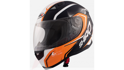 HELMET SHIRO SH-881 BLACK / ORANGE